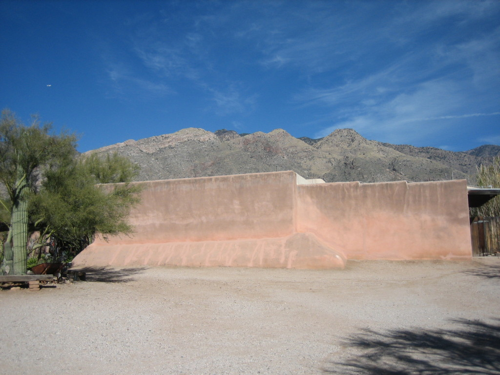 This is the Gallery in the Sun with the Santa Catalina Mountains behind it.